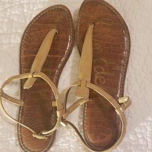 Sam Edelman Gigi Nude Leather Thong Sandals
